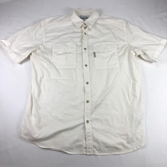 665dfcf341b Columbia Shirts | Mens Sz Xl Vented Upf Fishing Shirt White | Poshmark
